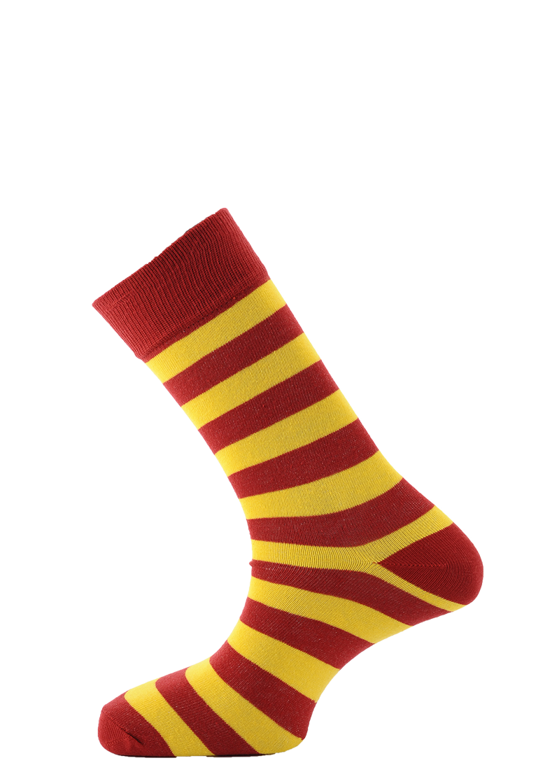 Horizon Red and Yellow Dress Sock