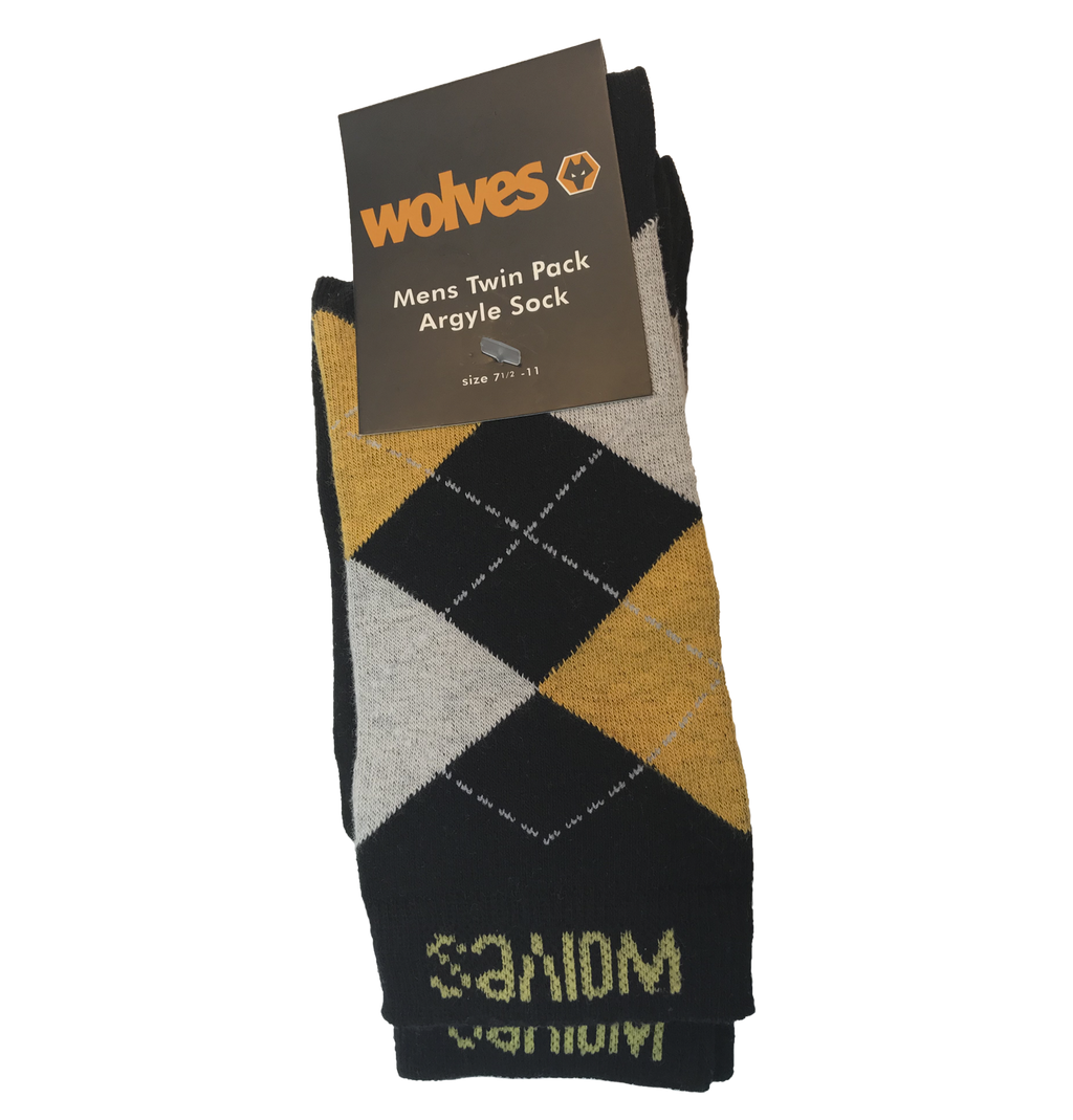 Wolves 2pk Argyle Dress Socks