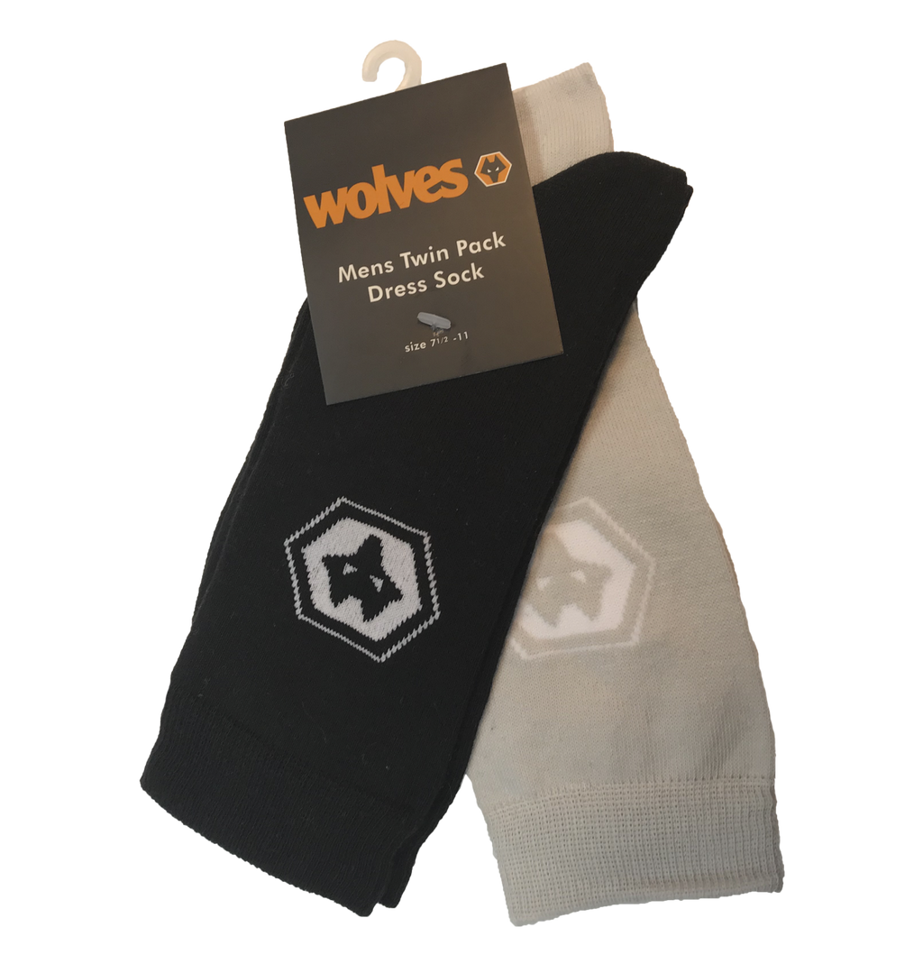 Wolves 2pk Dress Socks