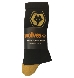Wolves 3pk Sports Socks