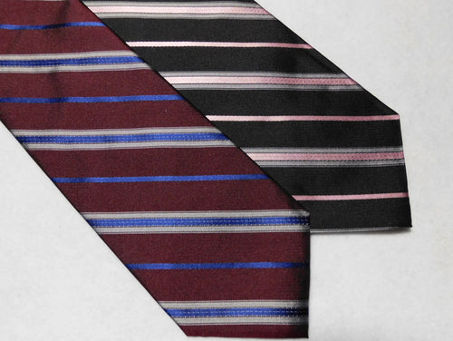 67606 Woven Silk English Repp Stripe