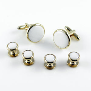 FS27 White/Goldtone Epoxy Stud Set