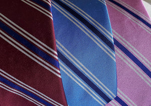 67616 Woven Silk English Repp Stripe