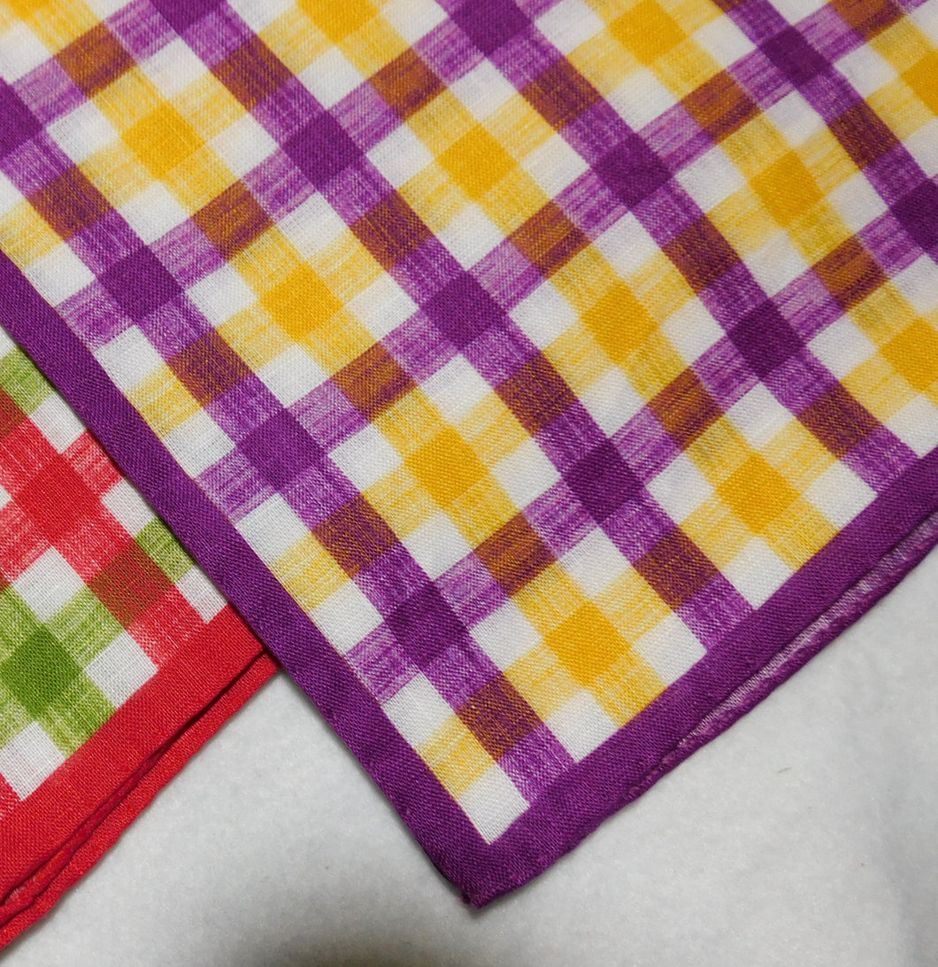 A1083 Italian Linen Pocket Square WChecks