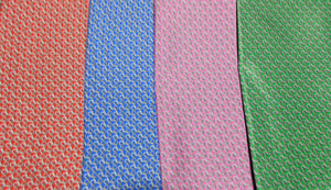 A2011 100% Silk Pocket Square Chains Made In Italy