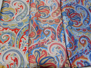 A2023 Silk Pocket Square Large Paisley Made In Italy