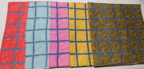 A2026 Linen Pocket Square Checks Made In Italy