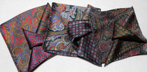 A4003 100% Silk Double Sided Pocket Square Made In Italy