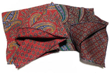 Load image into Gallery viewer, A4004 100% Wool Double Sided Pocket Square Made In Italy