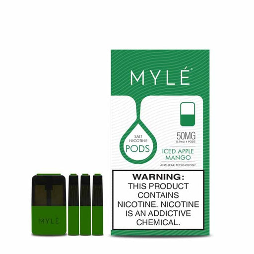 BEST MYLE PODS V4 ICED APPLE MANGO