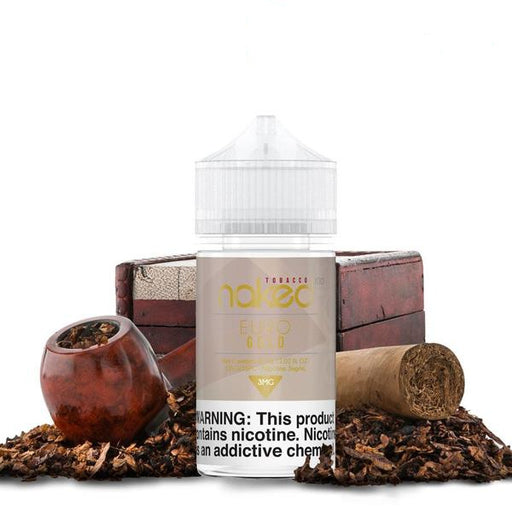 EURO GOLD - NAKED 100 TOBACCO - 60ML - Vapers Dubai