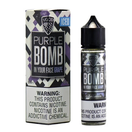 ICED PURPLE BOMB BY VGOD E-LIQUID 60ML - Vapers Dubai
