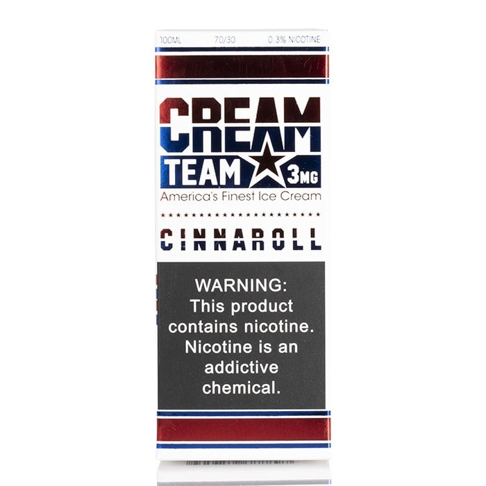 CINNAROLL - CREAM TEAM E-LIQUID - 100ML - Vapers Dubai