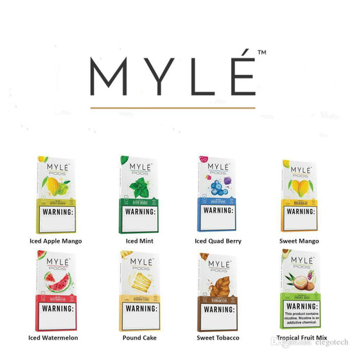 MYLE NEW FLAVOUR PODS - Vapers Dubai