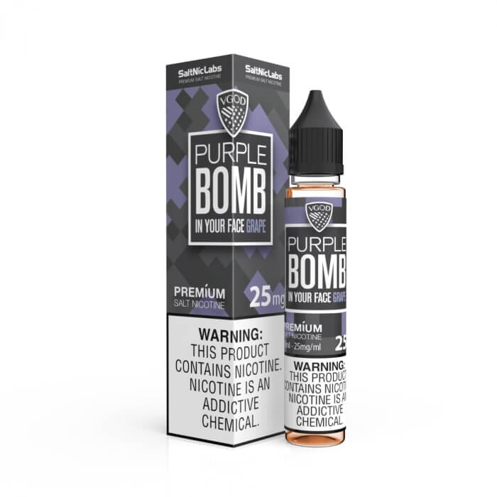 PURPLE BOMB BY VGOD SALTNIC 30ML - Vapers Dubai