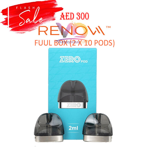 RENOVA ZERO REPLACEMENT POD BUNDLE OFFER 20PCS - Vapers Dubai