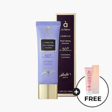 Load image into Gallery viewer, ACTIBEAU Camellia Floral Calming Sunscreen + FREE Foaming Facial Cleanser
