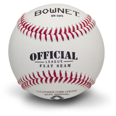 Bownet Baseball Flat Seam: Pro – Collegiate – High School Game Balls (BN-50 FS)