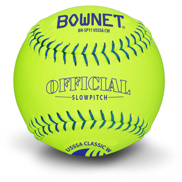 "Bownet Softball 11"" Slowpitch Synthetic Optic Leather USSSA (BN-SP11 USSSA CW)"