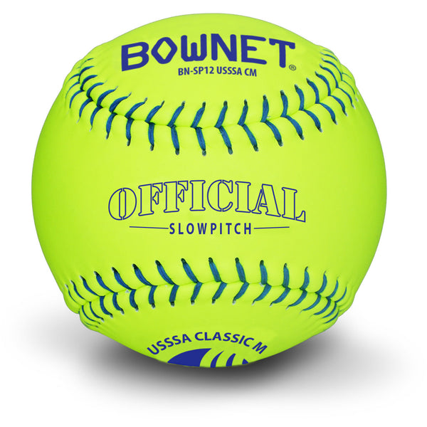 "Bownet Softball 12"" Slowpitch Synthetic Optic Leather USSSA (BN-SP12 USSSA CM)"