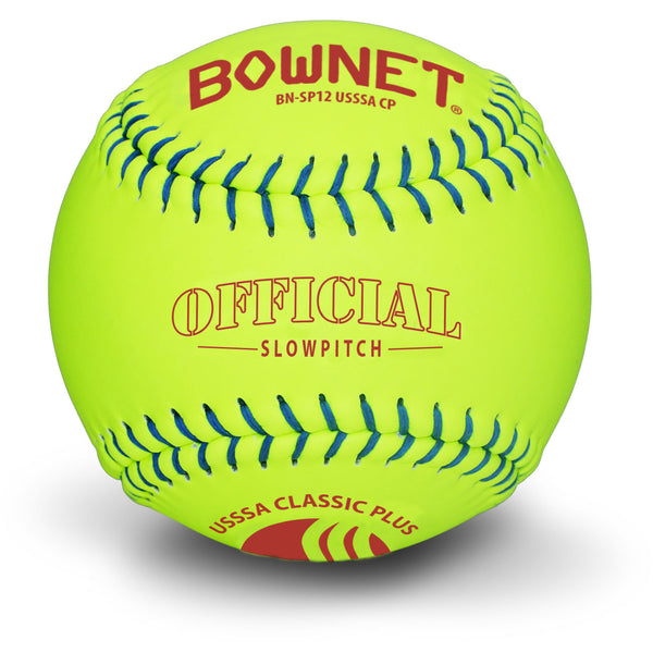 "Bownet Softball 12"" Slowpitch Synthetic Optic Leather Classic Plus (BN-SP12 USSSA CP)"