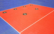 Bownet Volleyball Floor Targets, 6 Pack
