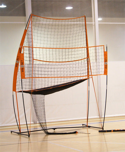 chair volleyball net. volleyball practice station chair net