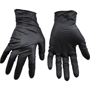100 black nitrile gloves - one size fits all