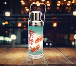 Table lamp - Old HK flask - Fish