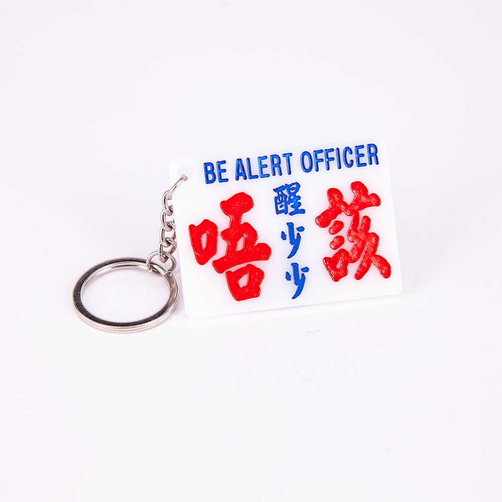 Minibus sign keychain- Be smarter please