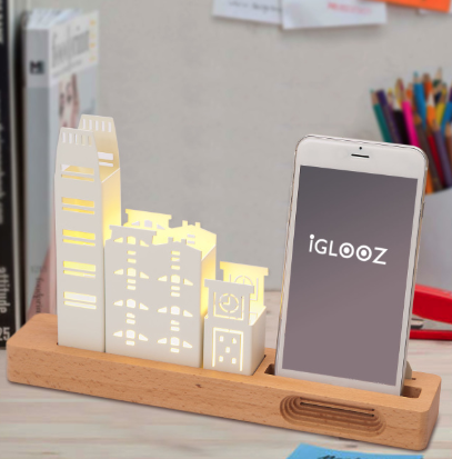 Desktop lighting and cell phone stand - HK Lion Rock