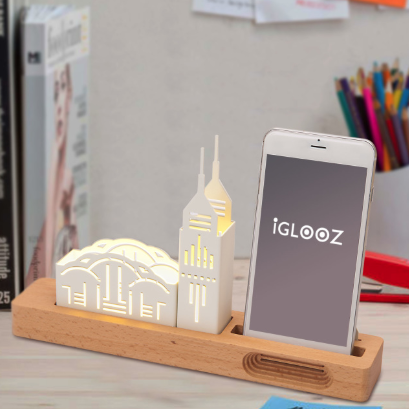 Desktop lighting and cell phone stand - HK The Peak
