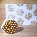 Rubber stamp with postcard - Egg puff (Handmade)