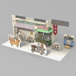 3D postcard - Old HK - Food stall