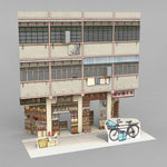 3D postcard - Old HK - Dried seafood street