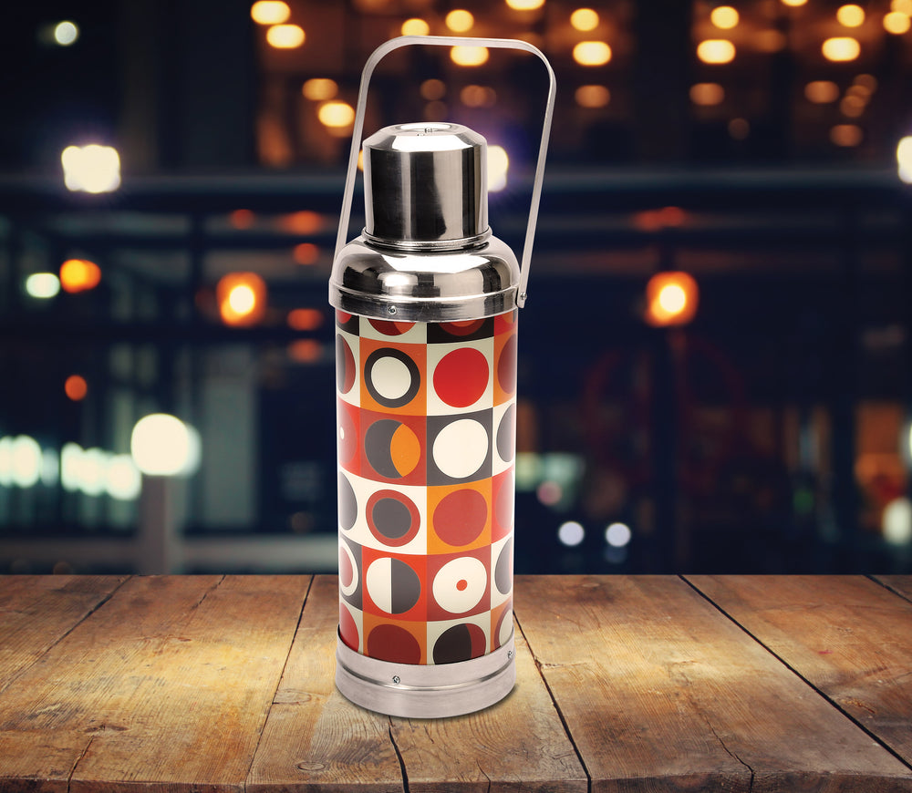 Table lamp - Old HK flask - Circle pattern