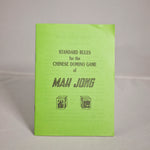Vintage booklet - Rules for mahjong