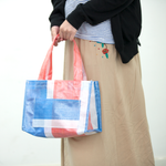 Red-white-blue tote bag (Handmade)