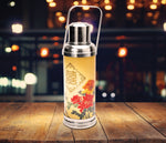Table lamp - Old HK flask - Flower