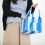 White-blue tote bag (Hand-made)