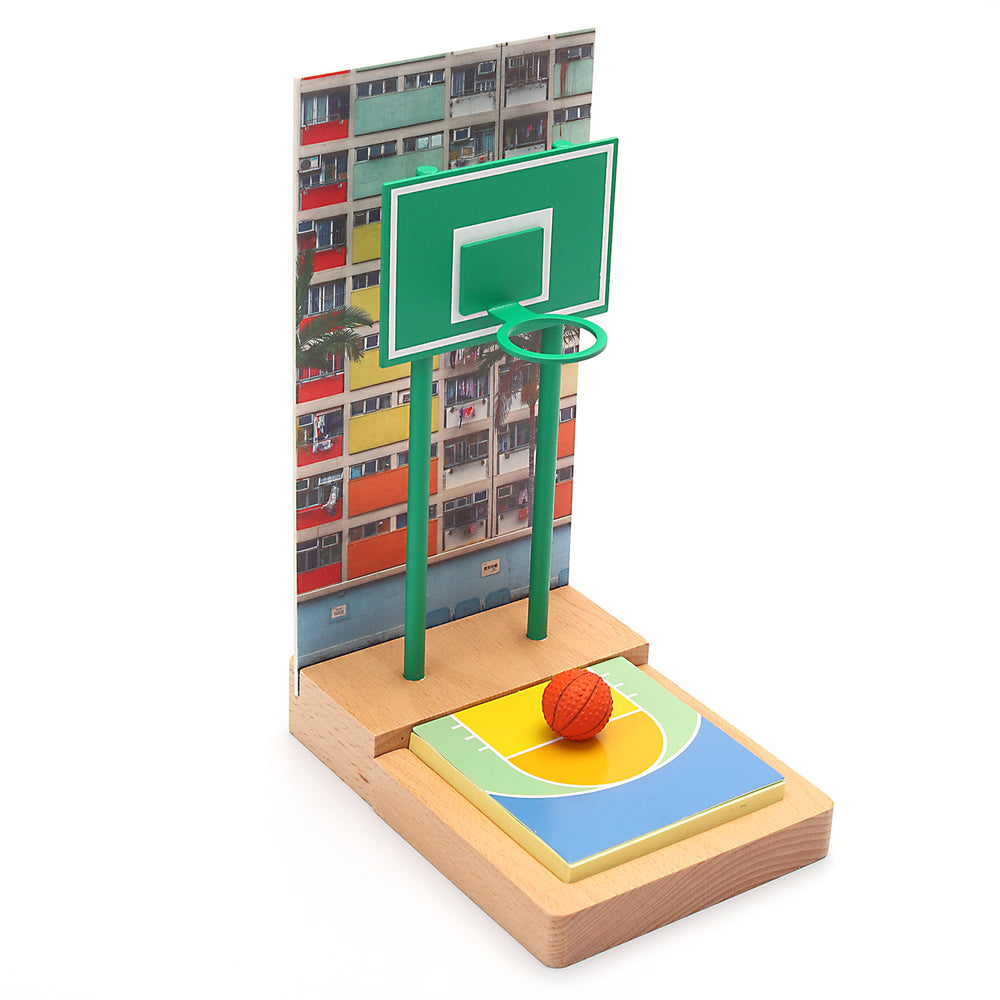 Multifunction memo holder - HK housing estate basketball court