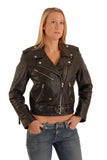Brando Biker cowhide Leather Jacket (Perfecto) in women's fit.113-L