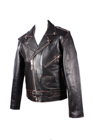 Classic Brando Antique Cowhide Leather Jacket 113A