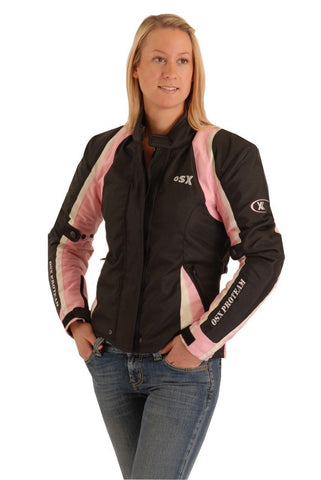 Waterproof Textile Jane  Jacket Black Pink 145F