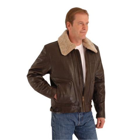 Classic  Flying Pilot Brown Leather Aviator Jacket 159