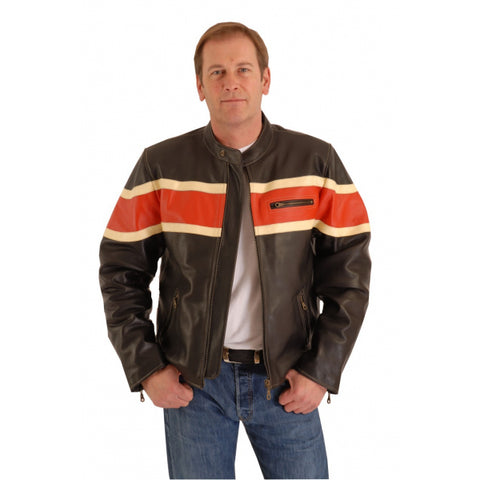 CRUISER MC COW HIDE LEATHER JACKET ROADSTAR 167
