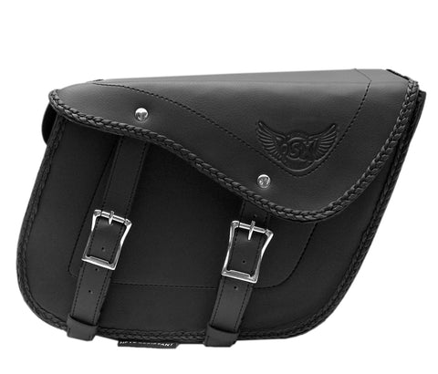 Synthetic Leather  Saddle Bag  Pannier Luggage Fortress  AC457-SL