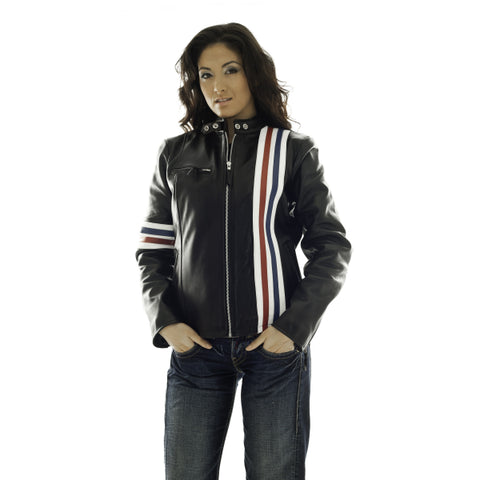 Fonda (Ladies) Cruiser/Racer Leather Jacket 1103