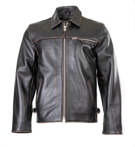 Classic Blouson Punk Rock Street Fashion Leather Punk Antique Jacket 117A