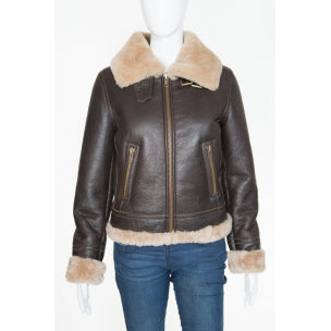 Ladies Pilot  Flying Aviator Real Sheepskin Jacket